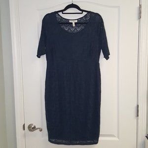 Jessica Simpson Teal Lace Maternity Dress